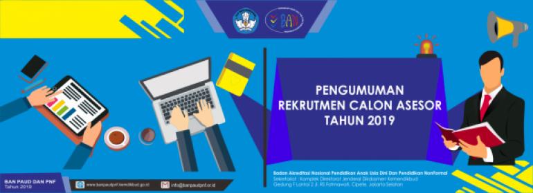 RESMI Dibuka Calon Asesor untuk Sekolah/Madrasah 2019